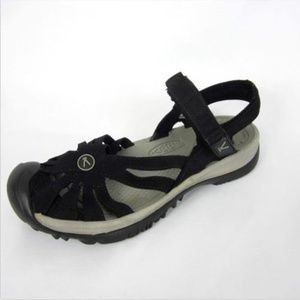 Rose Sandals Closed Toe Guard Black 7 KEEN EUC
